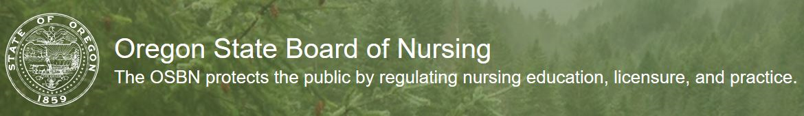 OSBN Oregon State Board of Nursing Logo and Website Link