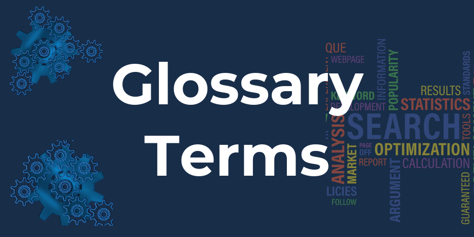 Glossary of Terms and Report Portal Image Link